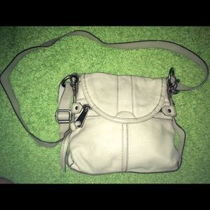 White fifty four fossil crossbody.
